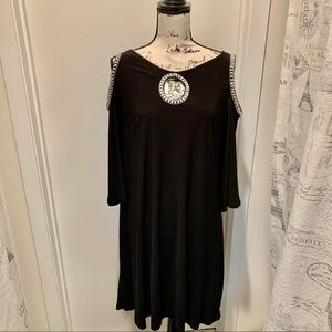 Stunning Little Black Dress with Glimmering Stones